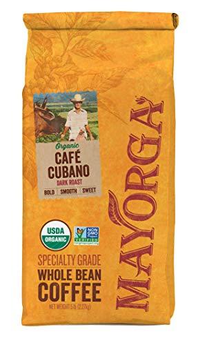 Café Cubano, 5LB, Mayorga Organics, Whole Bean Coffee, Dark Roast, 100% USDA