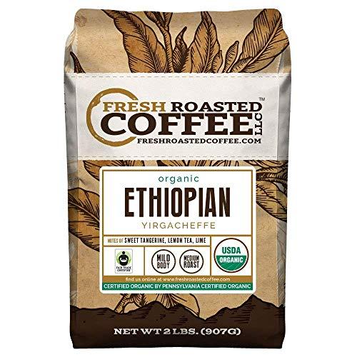 Fresh Roasted Coffee LLC, Organic Ethiopian Yirgacheffe Coffee, USDA Organic,