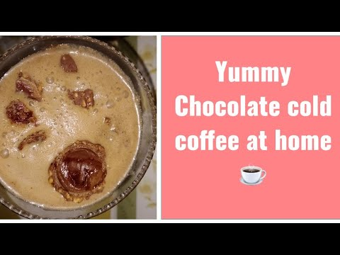 Chocolate cold coffee recipe // Instant cold coffee //  How to make Easy chocola…
