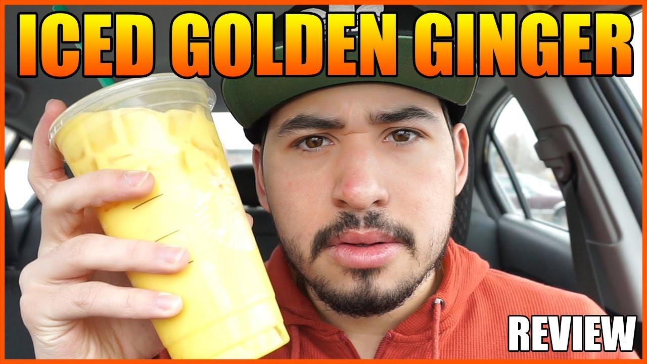 STARBUCKS NEW Iced Golden Ginger Drink REVIEW