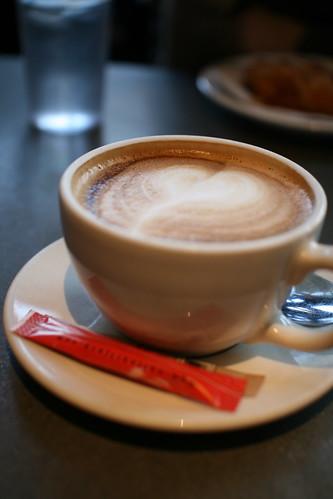 With friends at Café Art Java